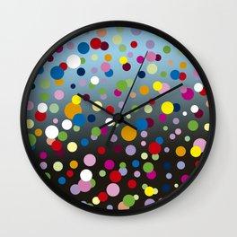 Multi-colored bubbles Wall Clock