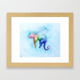 Fairy Cat Framed Art Print