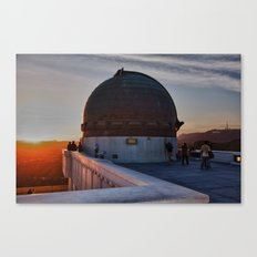 Griffith Observatory, Hollywood Sign Canvas Print