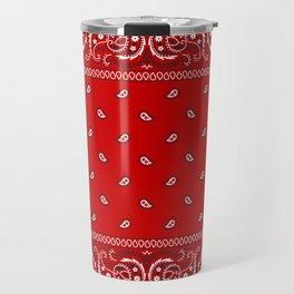 Paisley - Bandana - Red - Southwestern - Boho Travel Mug