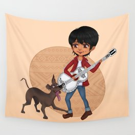 Miguel and Dante - Cute Chibi Wall Tapestry