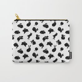 Black Bunny Pattern Carry-All Pouch