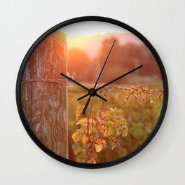 Glowing Grapes Wall Clock