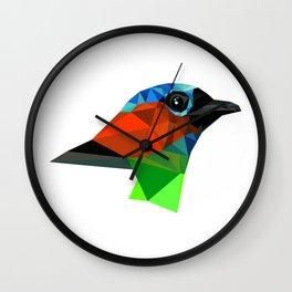 Bird art Saira Nature Animals Geometric Wall Clock