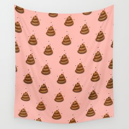 Poopy Pink Wall Tapestry