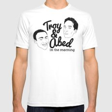 Troy & Abed In The Morning! - Community SMALL Mens Fitted Tee White
