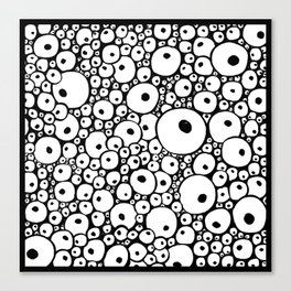 Eyes mess Canvas Print