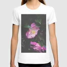 Moody Pink Camellia T-shirt