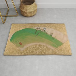 Shibata Zeshin - Flowers On Grass - Digital Remastered Edition Rug