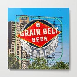 Grain Belt Beer Sign Metal Print