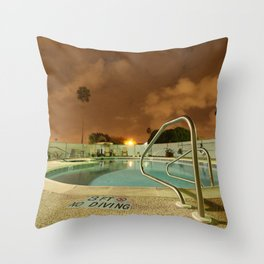 Night Poolside Throw Pillow