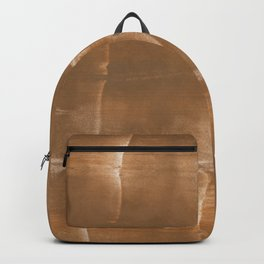 Sienna blurred wash drawing Backpack