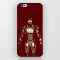 iron man iPhone & iPod Skins featuring Iron Man  by George Hatzis