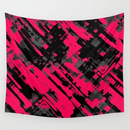 Hot pink and black digital art G75 Wall Tapestry