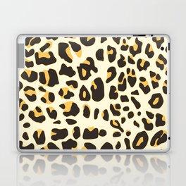 Trendy brown black abstract jaguar animal print Laptop & iPad Skin