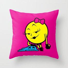 Ms. Pac-Man Throw Pillow