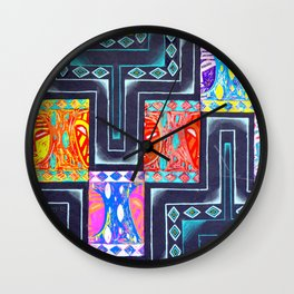 Tribal Masaai Wall Clock