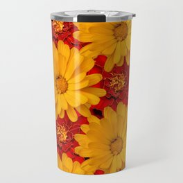 A Medley of Red and Yellow Marigolds Travel Mug