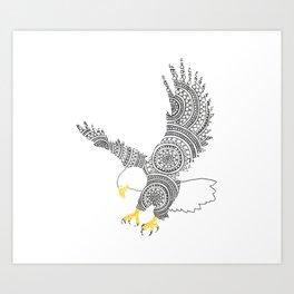 Eagle Circle Art Art Print
