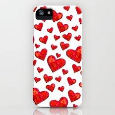 Hearts Motif iPhone (5, 5s) Slim Case