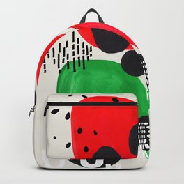 Mid Century Modern Abstract Vintage Colorful Shapes Patterns Watermelon Bubbles Backpack
