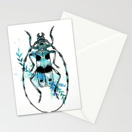 Turquoise Beetle Stationery Cards