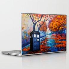 Tardis Autumn Alley Laptop & iPad Skin