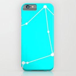 Libra (White & Cyan) iPhone Case
