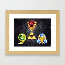 The Timeless Legend of Zelda Inspired Spiritual Stones Framed Art Print