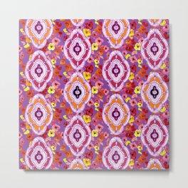 Pink, Orange, Purple Pattern Metal Print