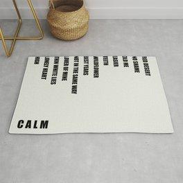 CALM Track List Rug