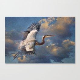 Heavenly Heron Canvas Print