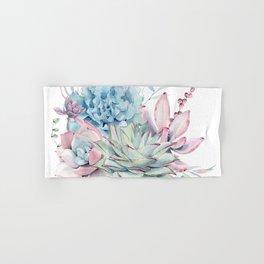 Pretty Pastel Succulents Hand & Bath Towel