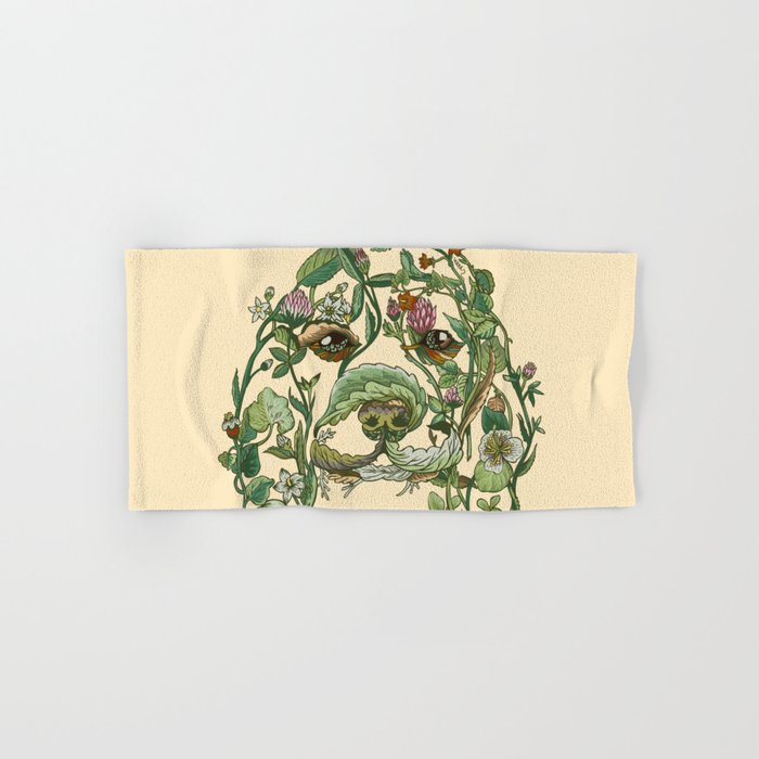 Botanical Beagle Hand & Bath Towel