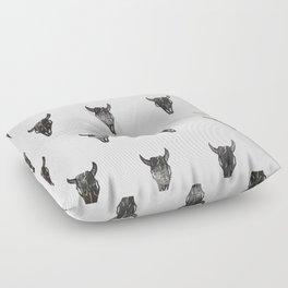 Stamped Skull Floor Pillow