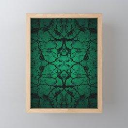 Green cracked wall Framed Mini Art Print