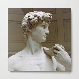 "Michelangelo ""David"" (head)(3) Metal Print"