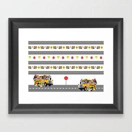 School Bus Fun Framed Art Print