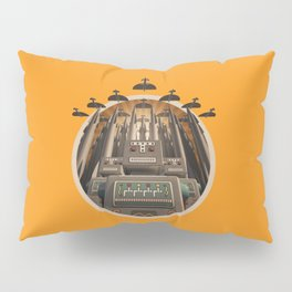 Robots Unite! crest variant Pillow Sham
