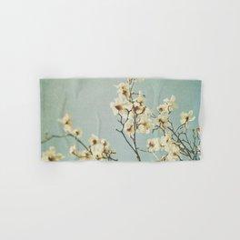 Magnolia blossoms. Mint Hand & Bath Towel