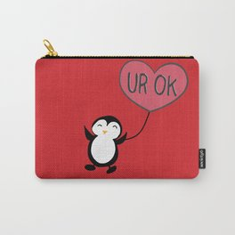 UR OK Penguin in love Carry-All Pouch