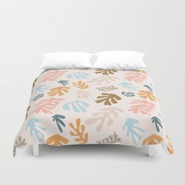 Seaweeds and sand Duvet Cover