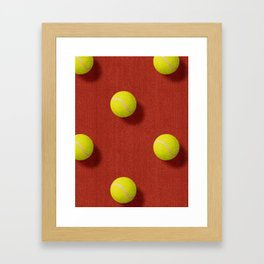BALLS / Tennis (Clay Court) / Pattern Framed Art Print