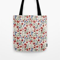 poppies Tote Bags featuring Poppies by moniquilla