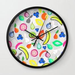 Fruit Crush Grey Wall Clock
