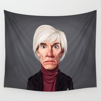celebrity Wall Tapestries featuring Celebrity Sunday ~ Andy Warhola by rob art | illustration