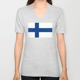 Flag of Finland - High Quality Image Unisex V-Neck