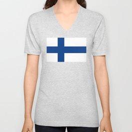 Flag of Finland Unisex V-Neck