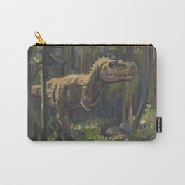 HUNT, T.rex dinosaur painting by Frank-Joseph Carry-All Pouch