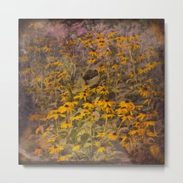 Yellow Jungle Metal Print